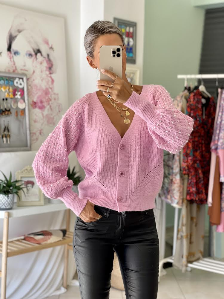 Pearly Pink  Cardigan