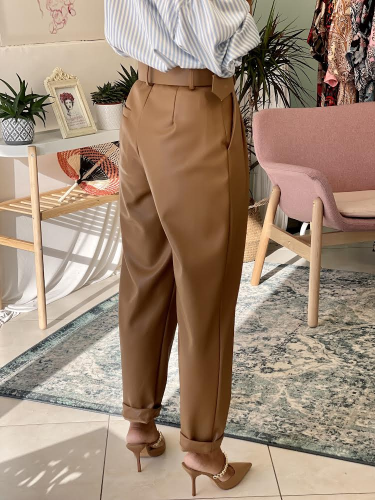 Brown Leather Pants