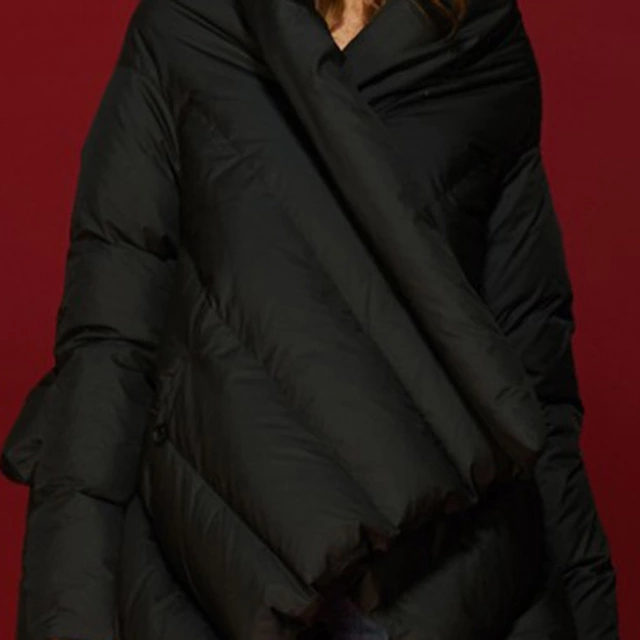 Black Wrap Down Coat
