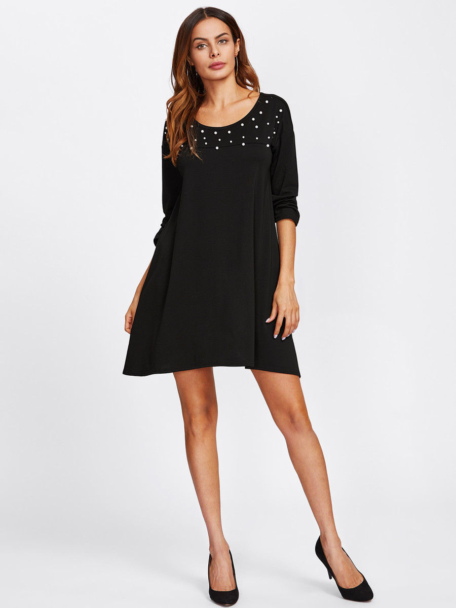 Pearl beeds Tee Dress