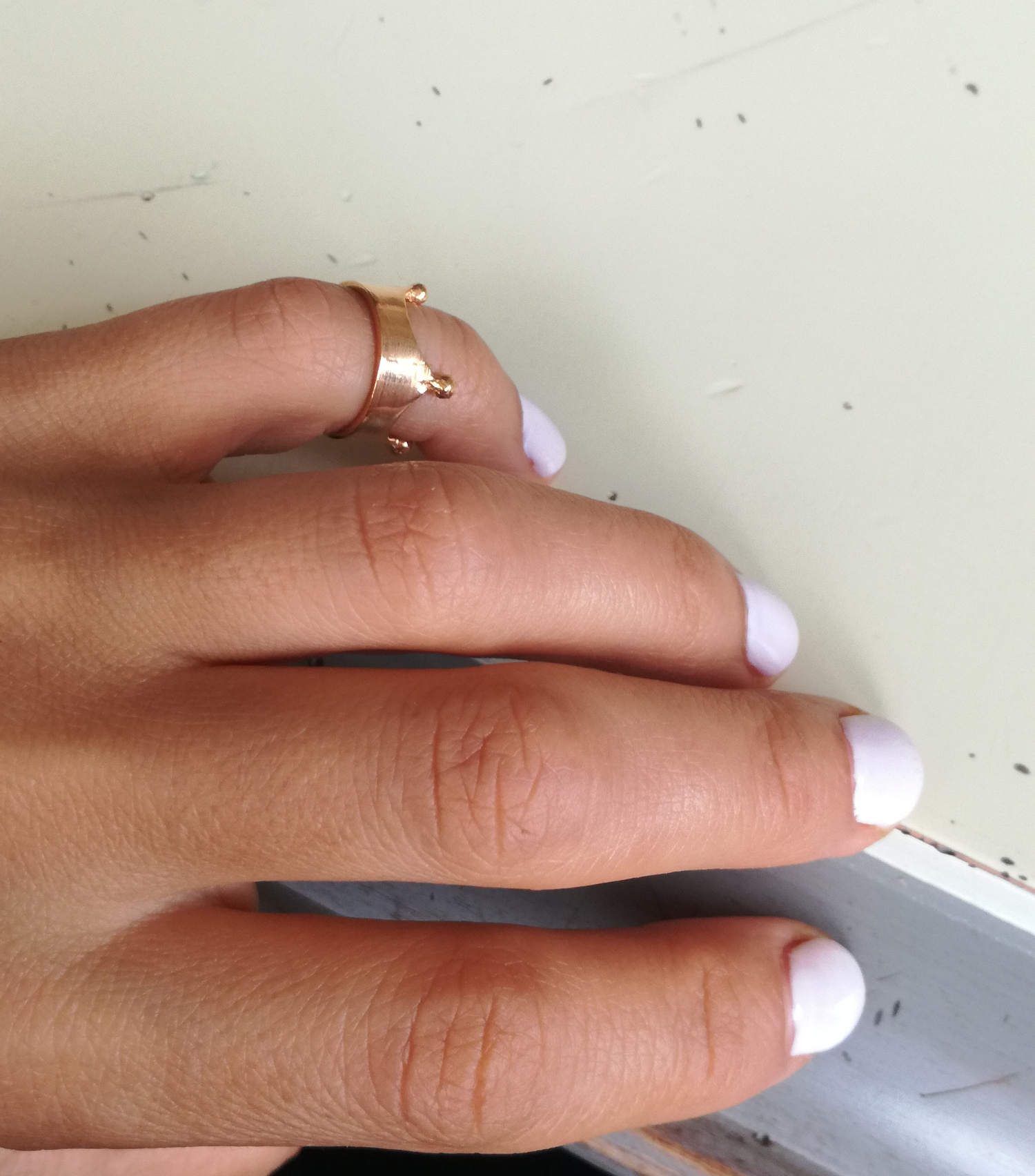 Pinky Crown Ring 8mm
