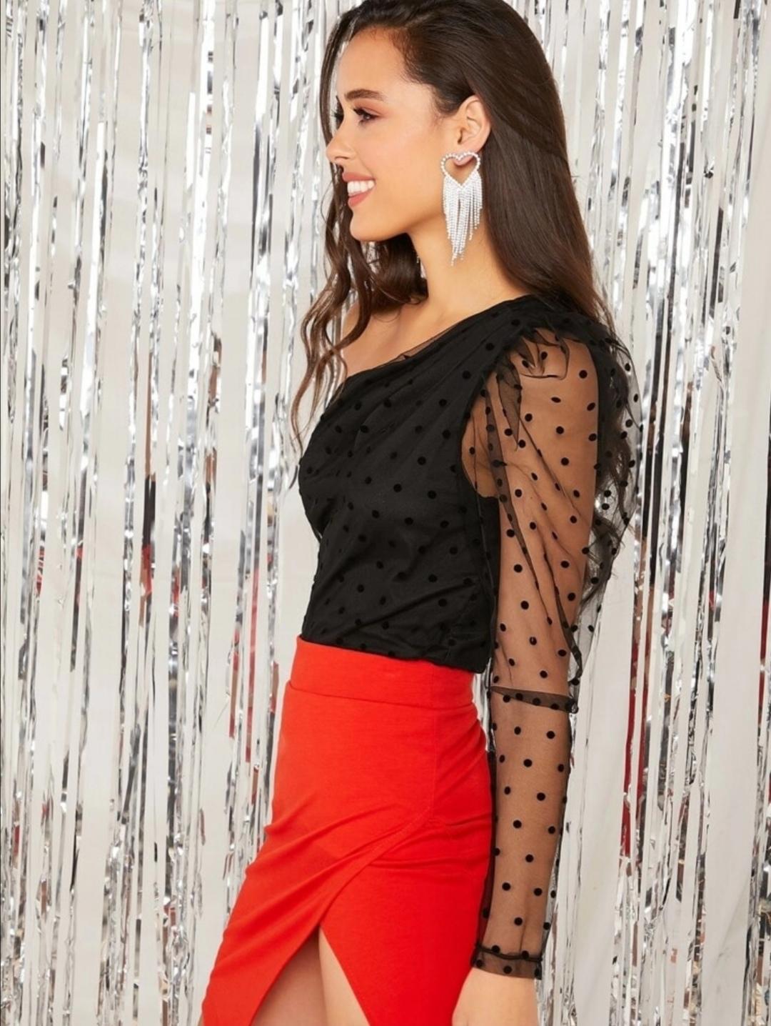 Disco dots blouse