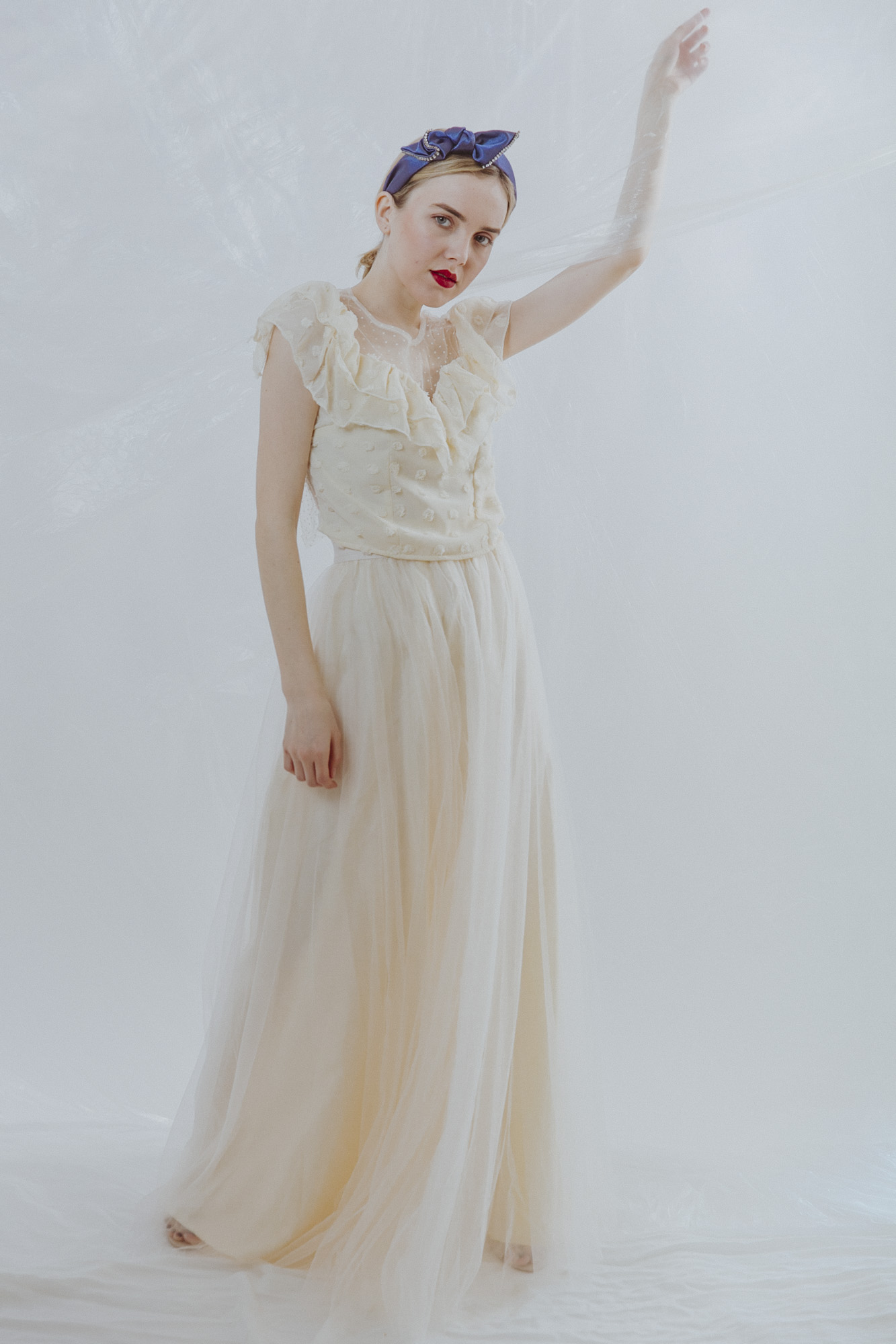 Cosmic Latte Maxi Tulle Skirt