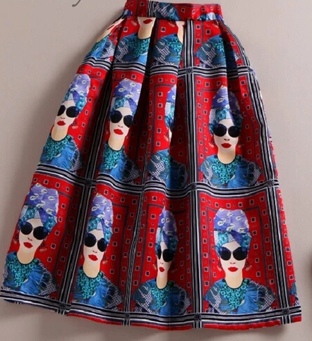 Lady In Sunnies Midi Skirt