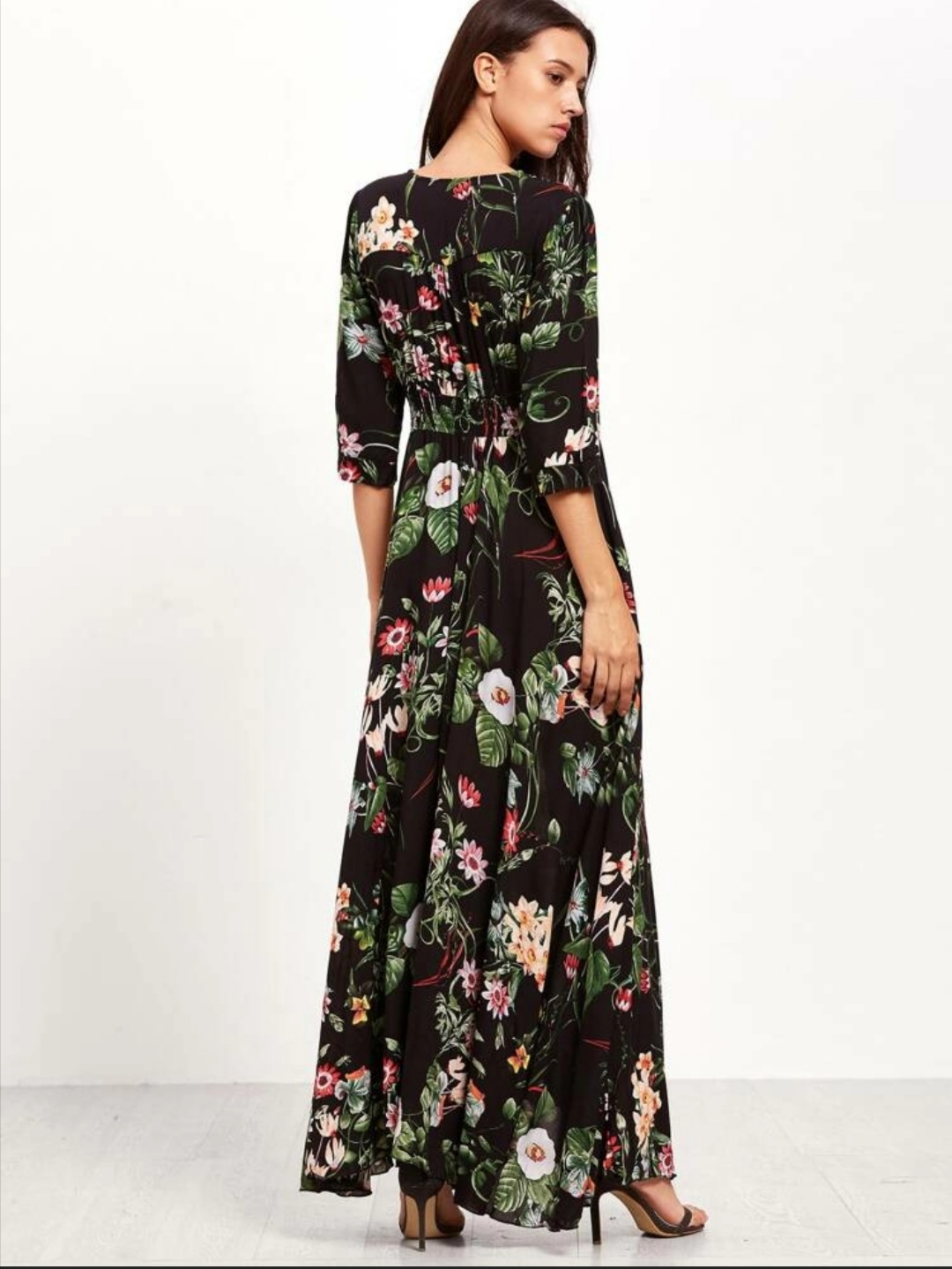 Lilly Floral Maxi Dress
