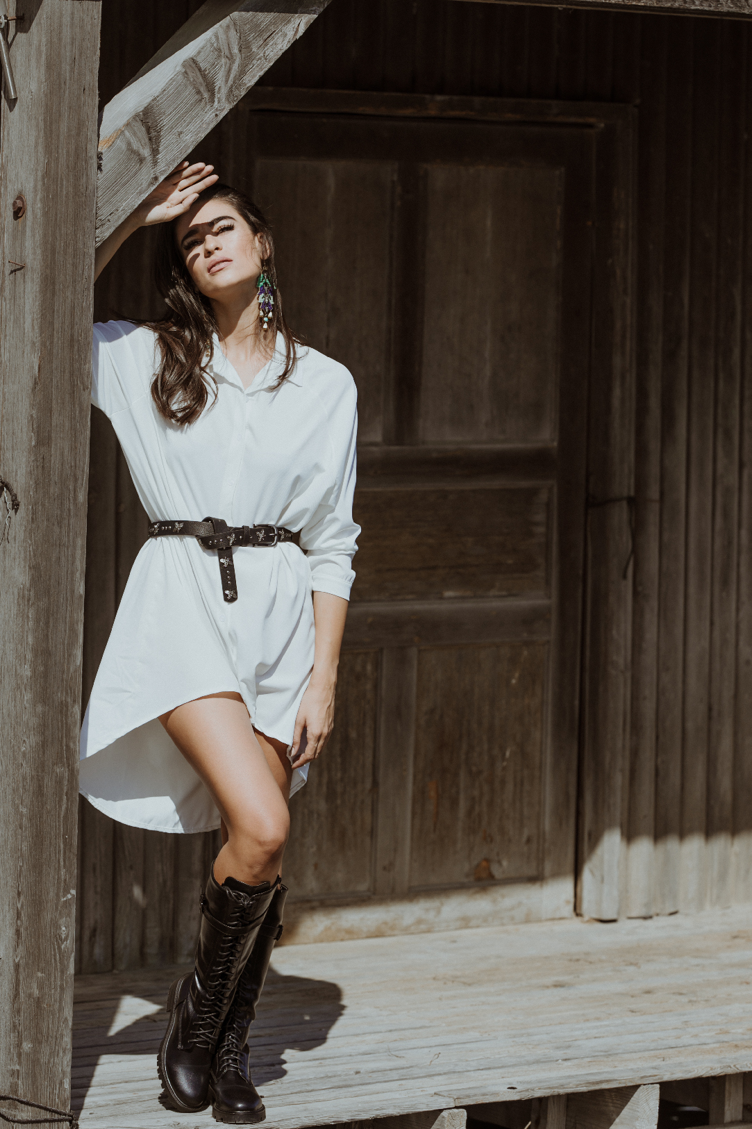 Amelie White Shirtdress