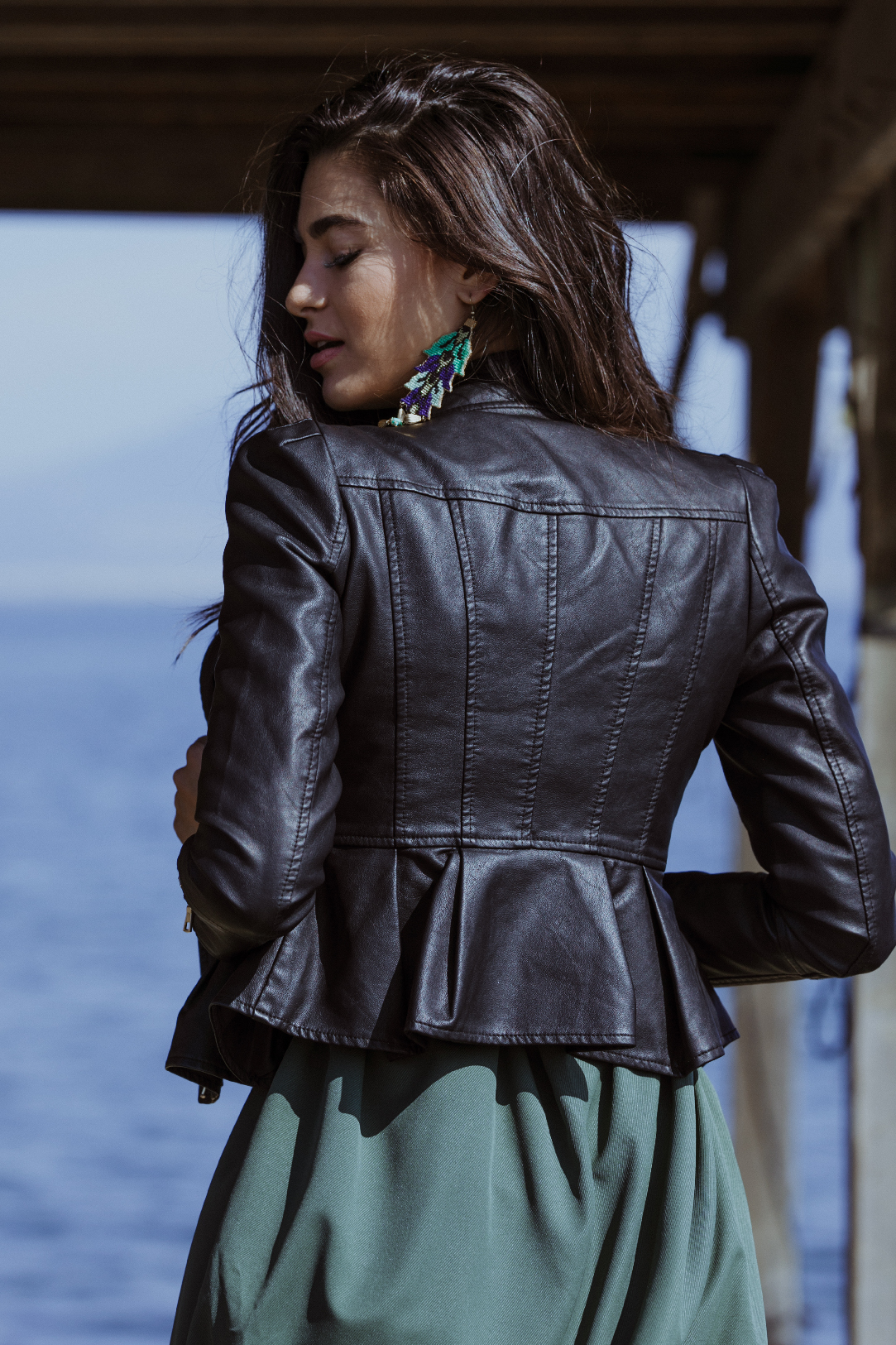 Faith PU Leather Jacket