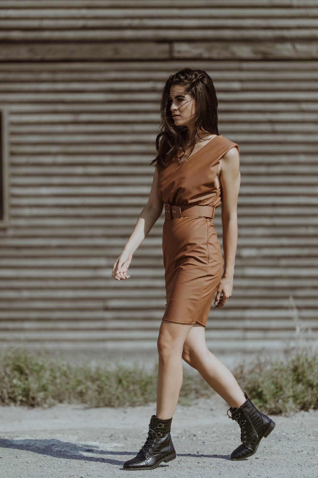 Samantha Brown PU Dress
