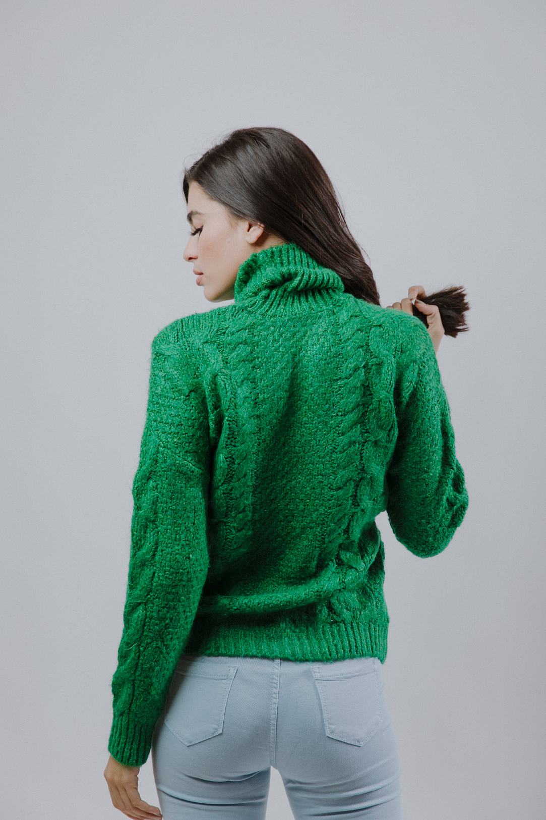 Green Braids Sweater