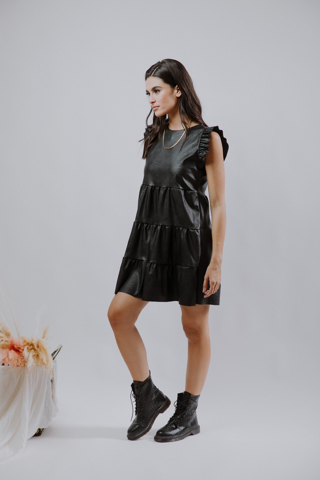Leather Flares Dress