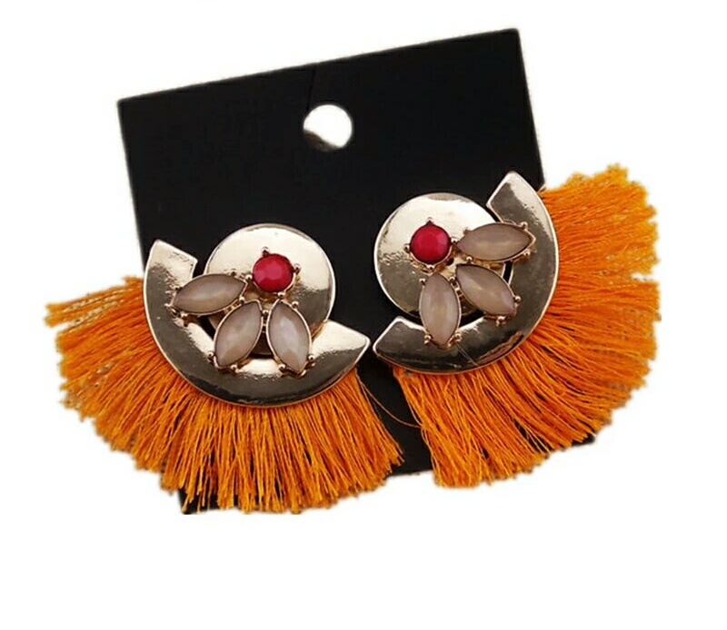 Orange Boho Earrings