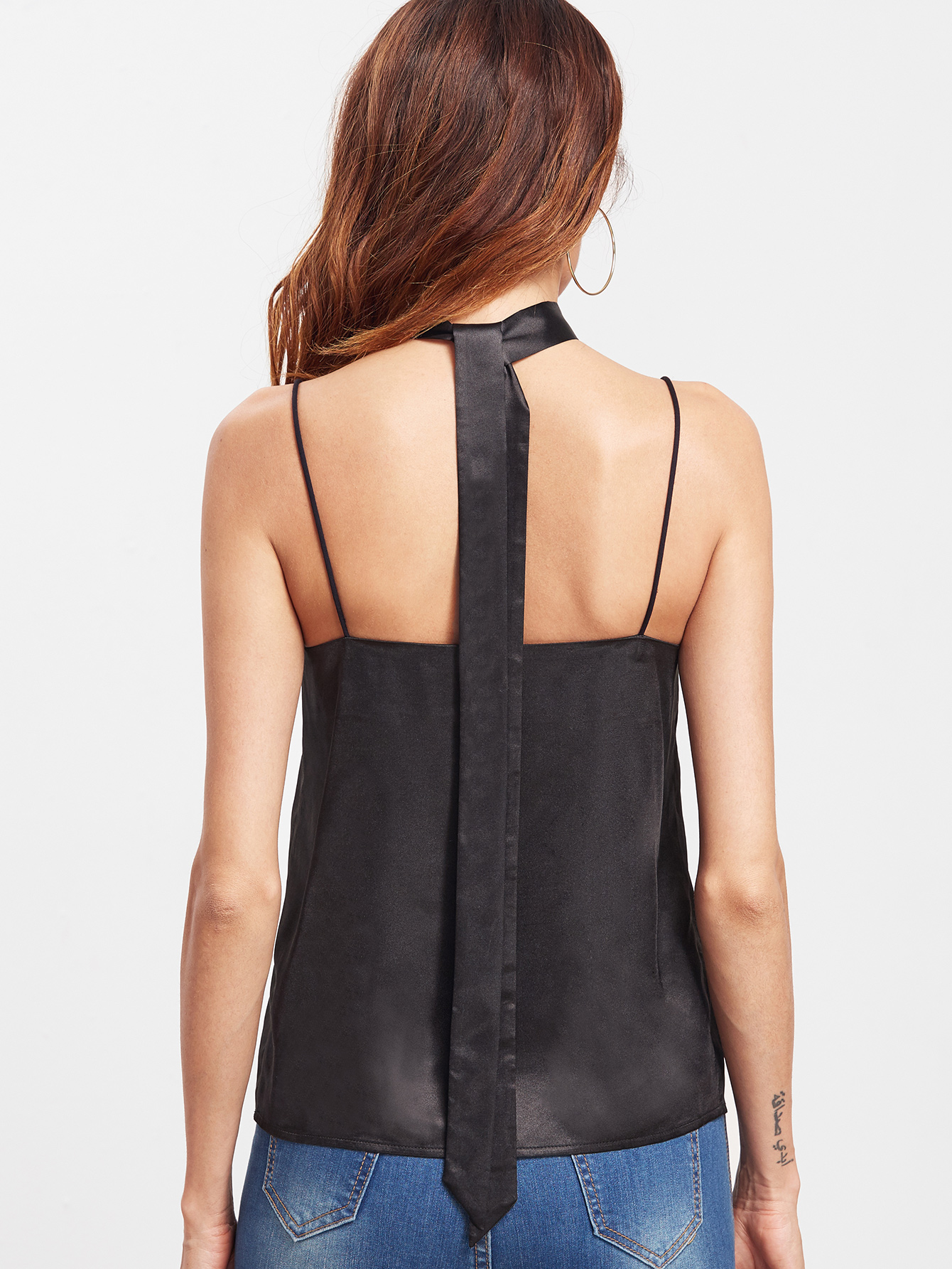 Embroidery Black Top
