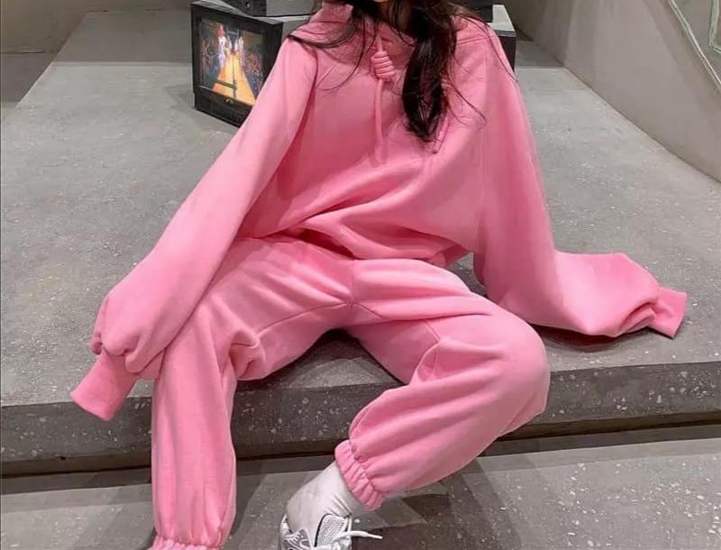 Pink Hooded Set