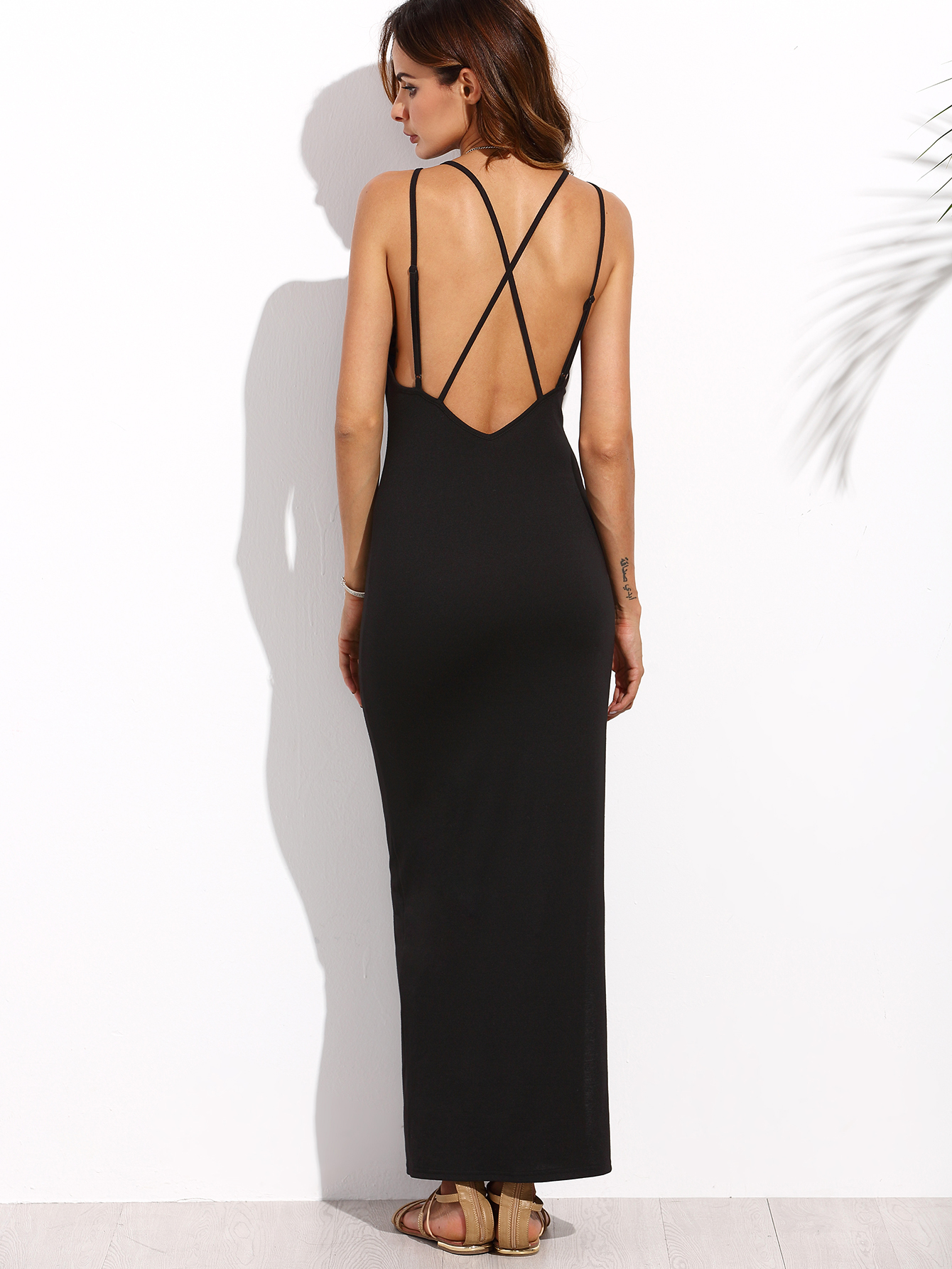 Open Back Tee Dress