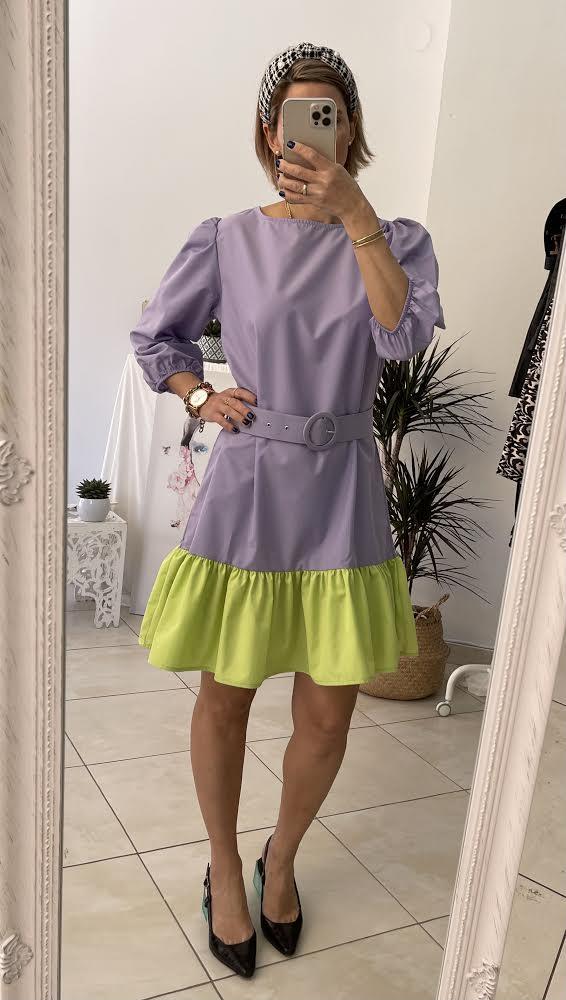 Block Purple Dress