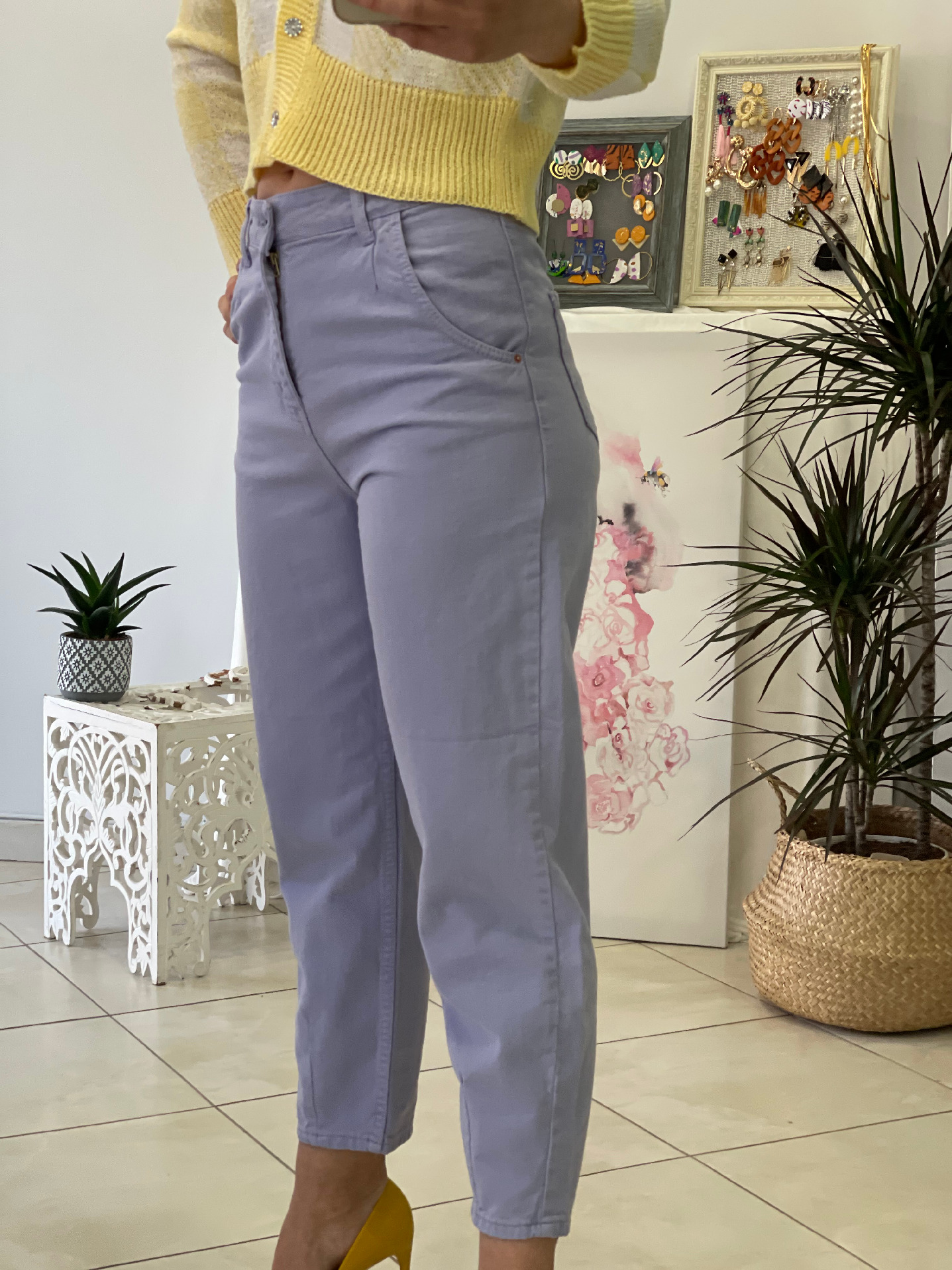 Purple Mom's Fit Jeans