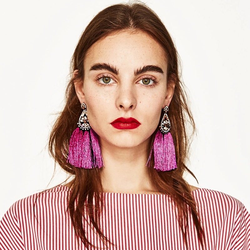 Fuchsia Strass Earrings