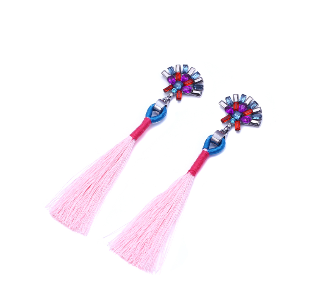 Cute Pink Strass Earrings