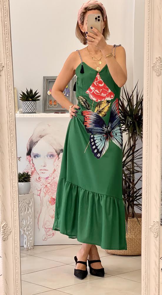 Butterfly Green  Dress