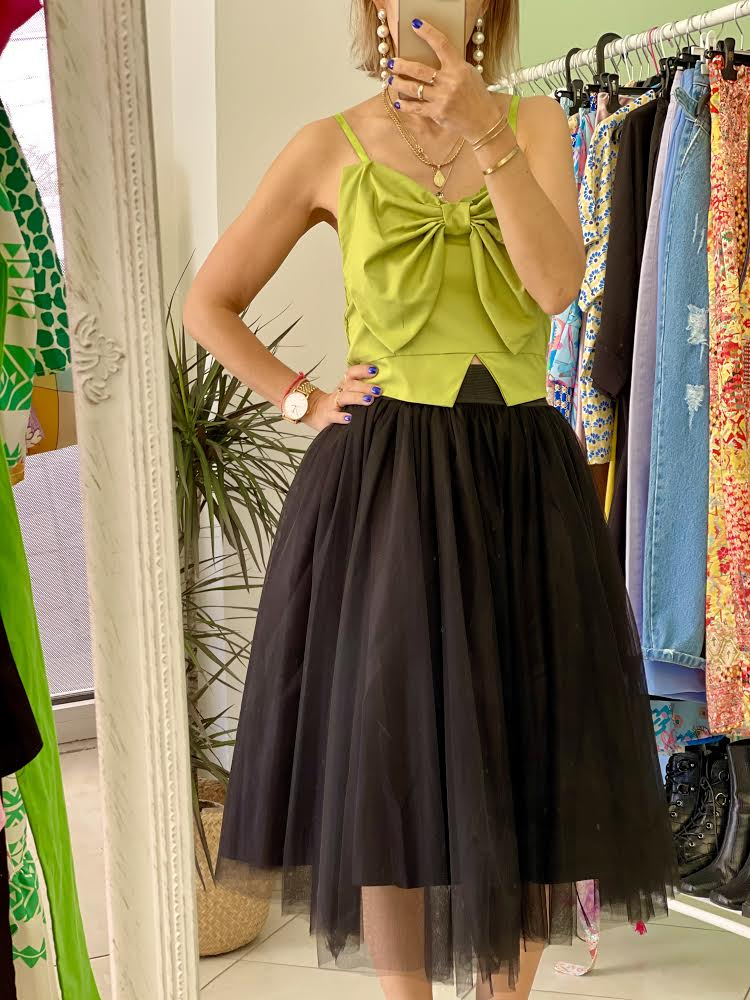 Olive Bow Top
