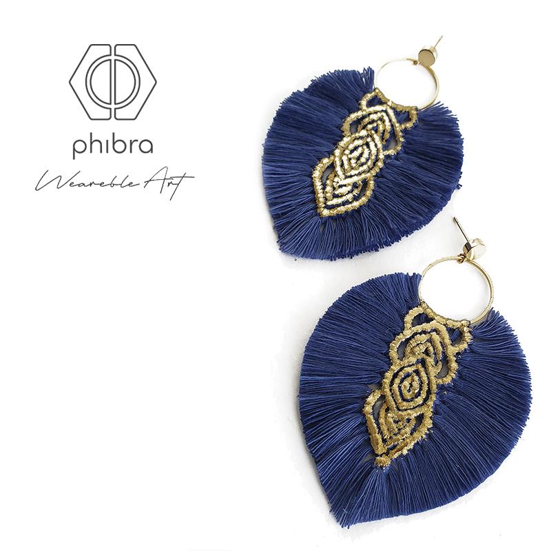 Aros Hebras II Azulino Dorado