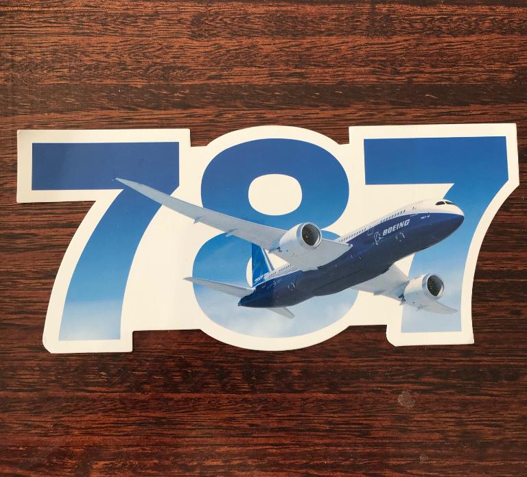 STICKER BOEING 787