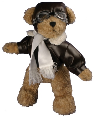 PILOT TEDDY  BEAR 23 CMS