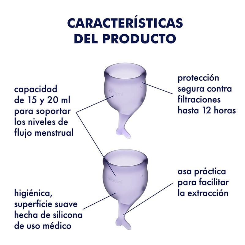Copas menstruales Satisfyer Feel Secure