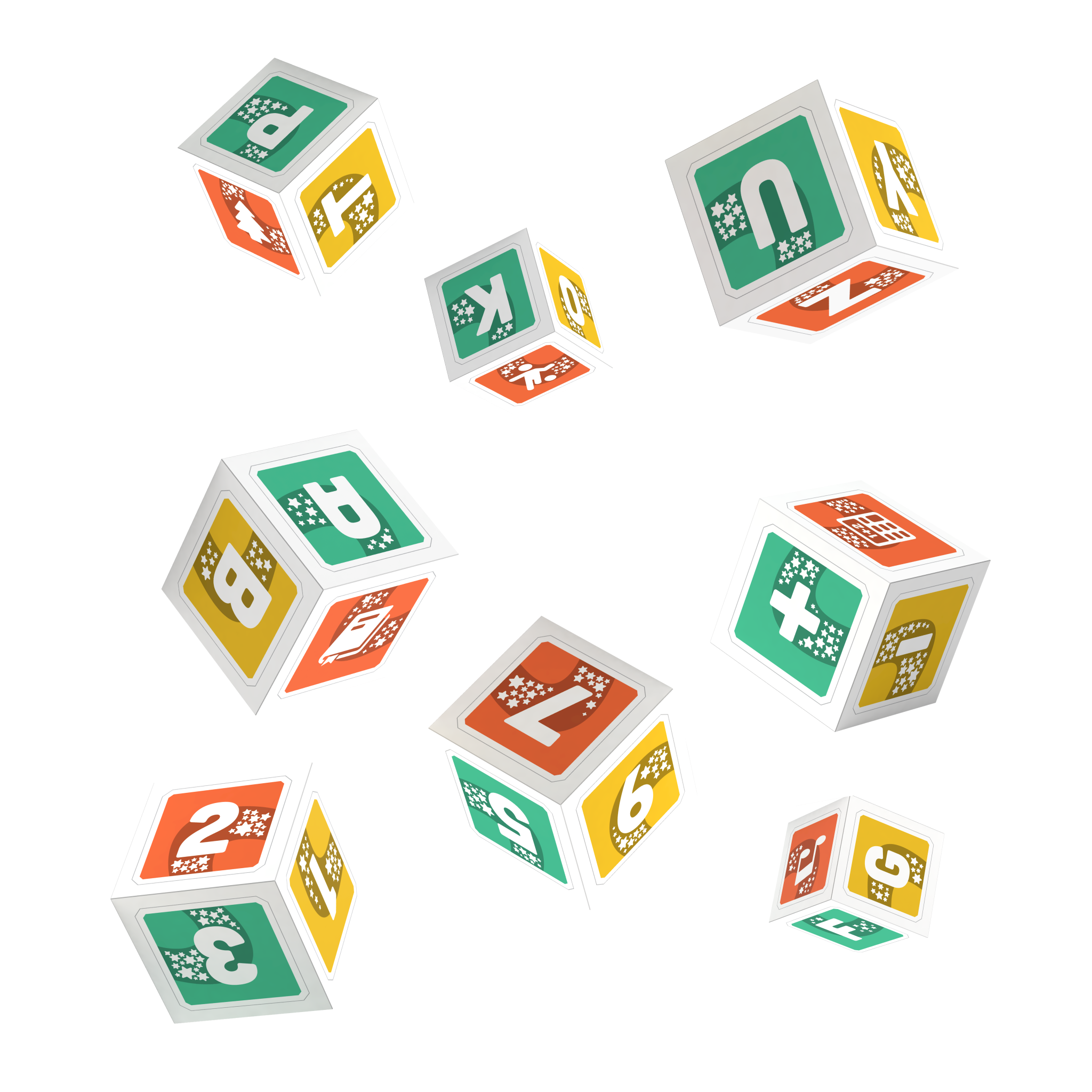 PleIQ Paper - 8 Cubos Didácticos con Realidad Aumentada