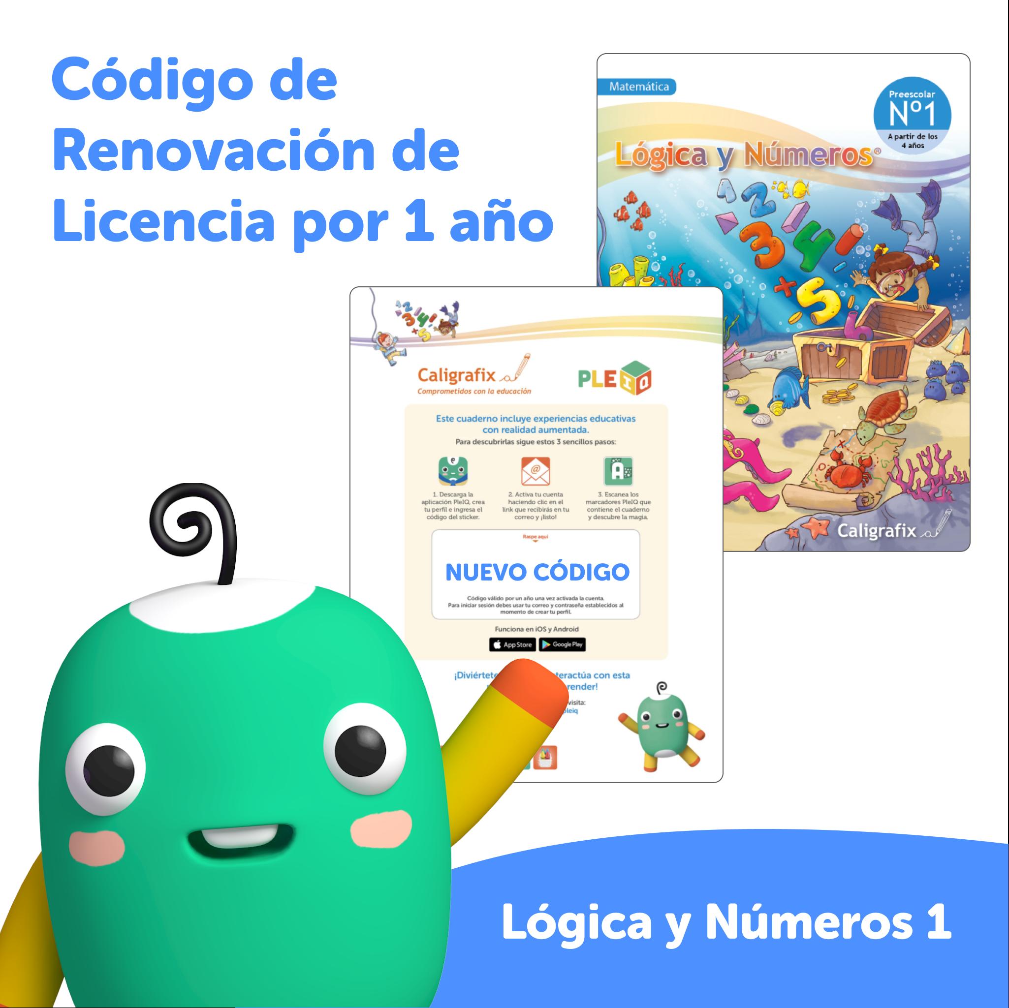 Código de renovación - Licencia Lógica y Números 1