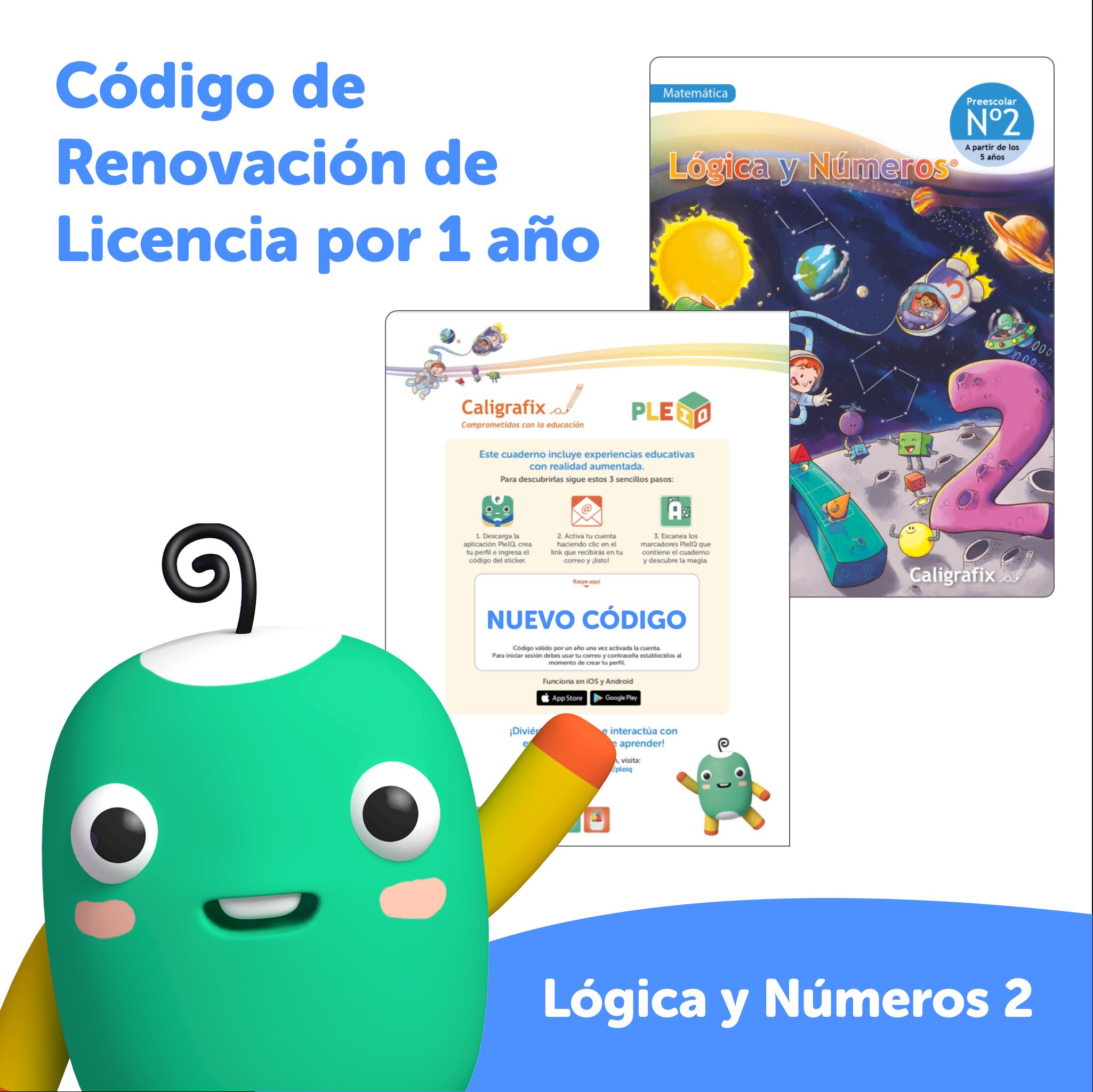 Código de renovación - Licencia Lógica y Números 2