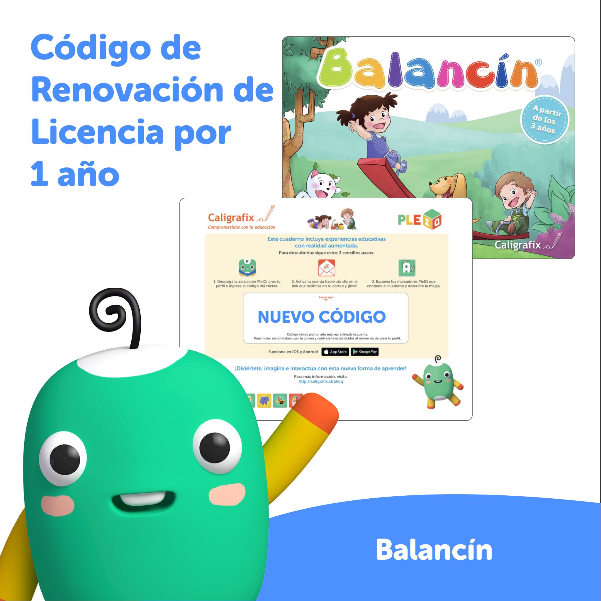 Código de renovación - Licencia Balancín