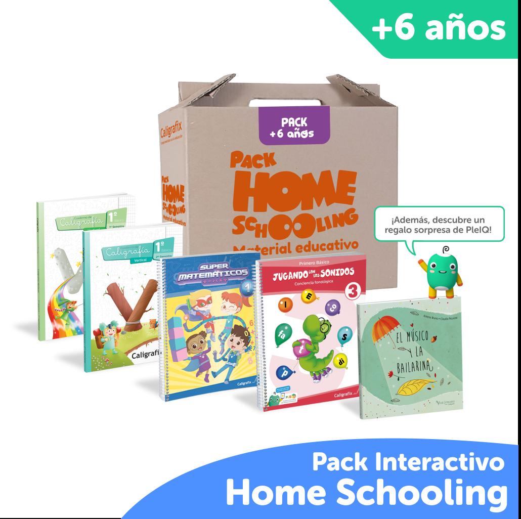 Super Pack Homeschooling Caligrafix + PleIQ 6 años