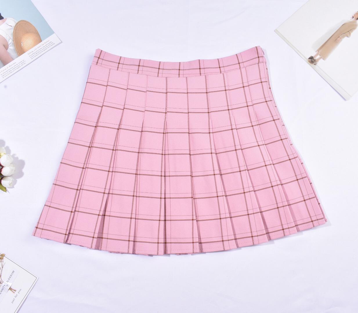 Falda tenis rosada cuadrille