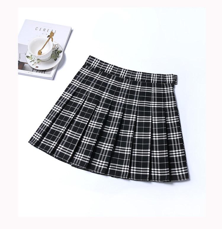 Falda otoñal negra cuadrille