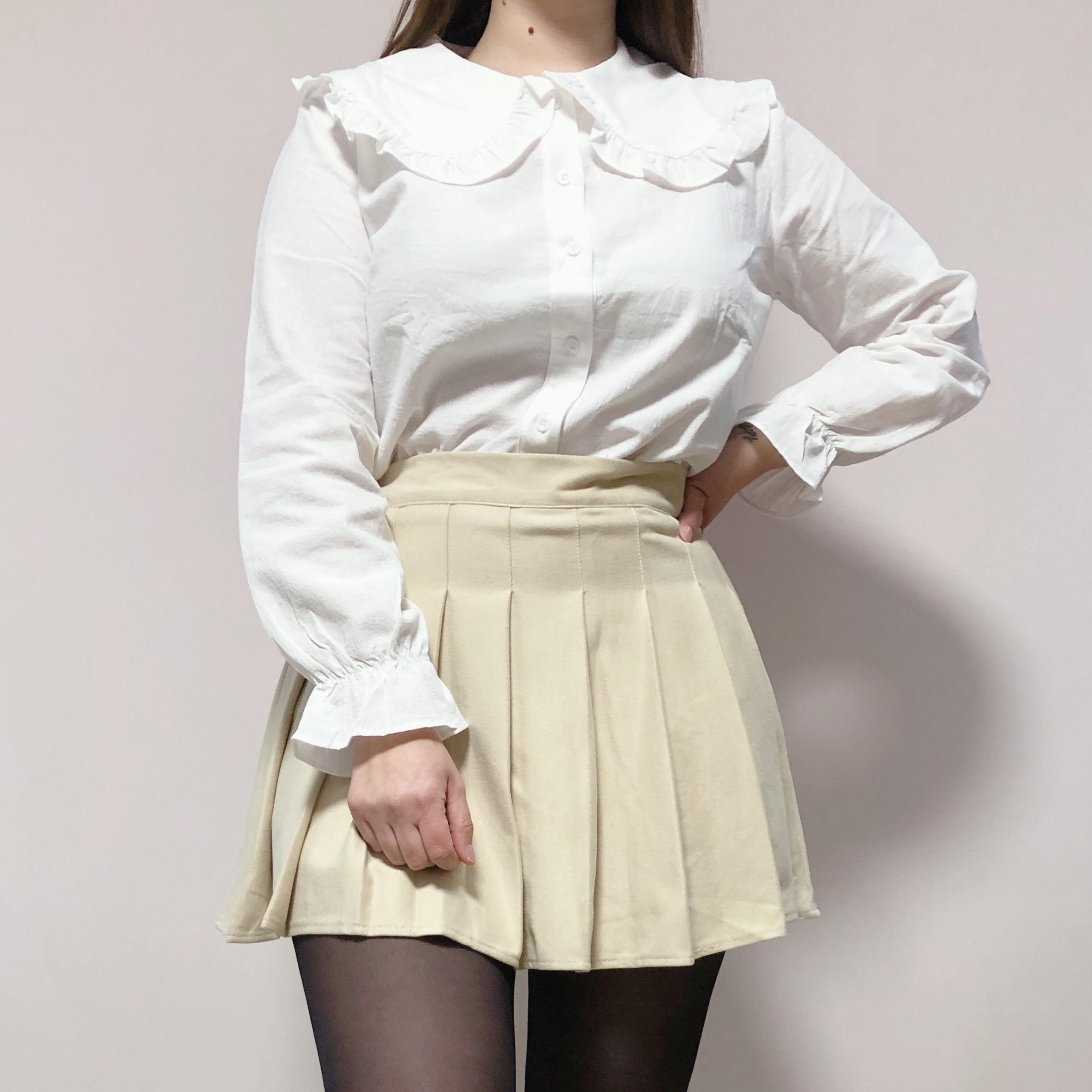 Falda beige