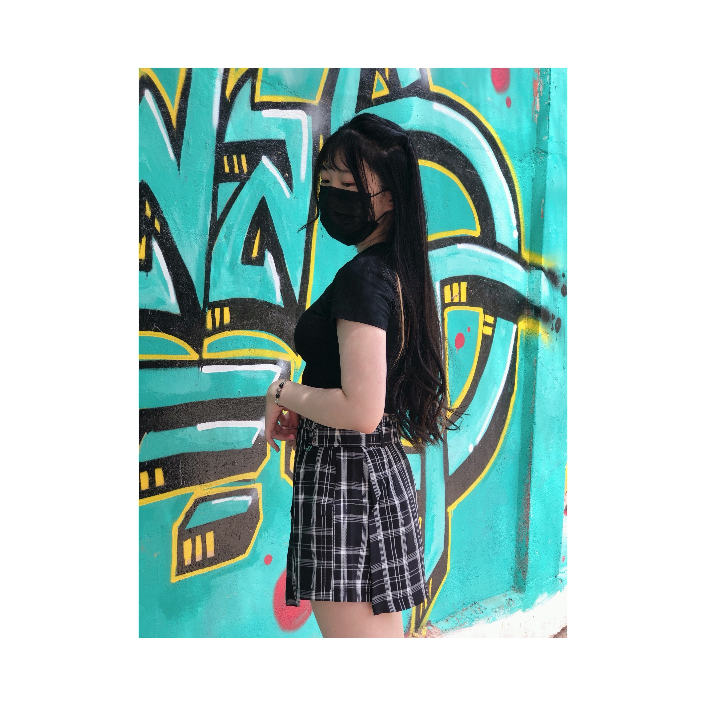 Short falda cuadrille
