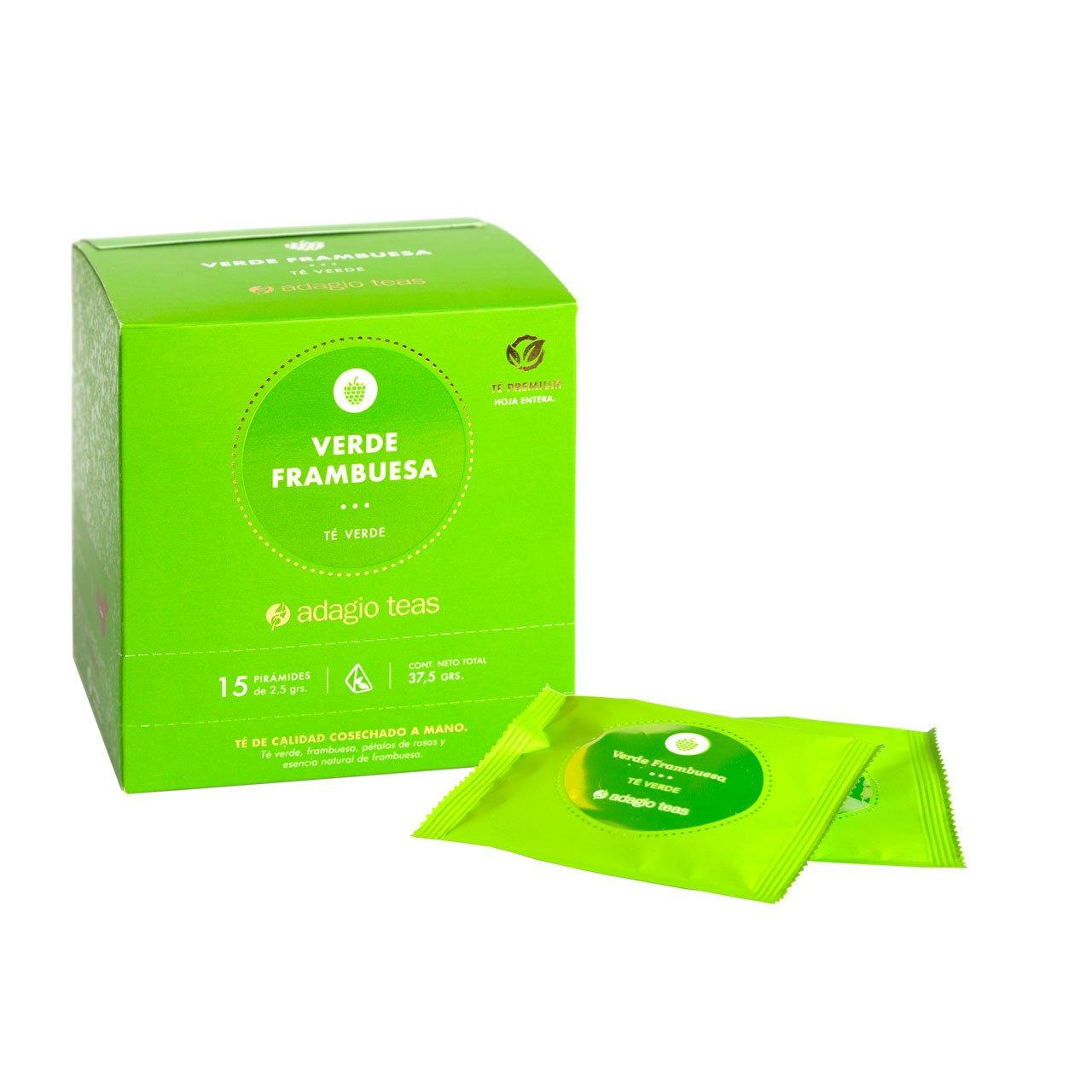 Caja 15 Teabags Verde Frambuesa