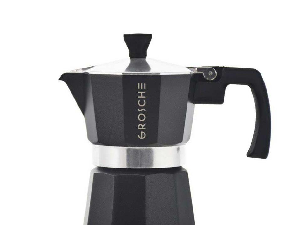 Cafetera Moka Grosche Milano Black 3 cup