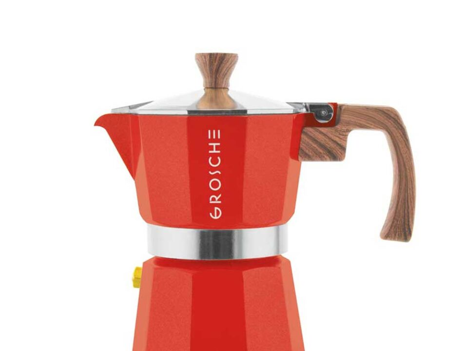 Cafetera Moka Grosche Milano Red 3 cup