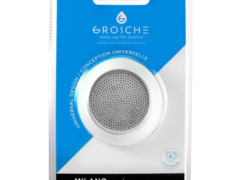 Repuesto Grosche 3 sellos silicona más filtro metálico (moka 6 tazas)