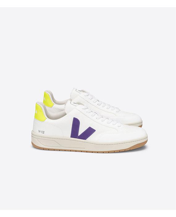 Veja - V-12 B-Mesh White Purple