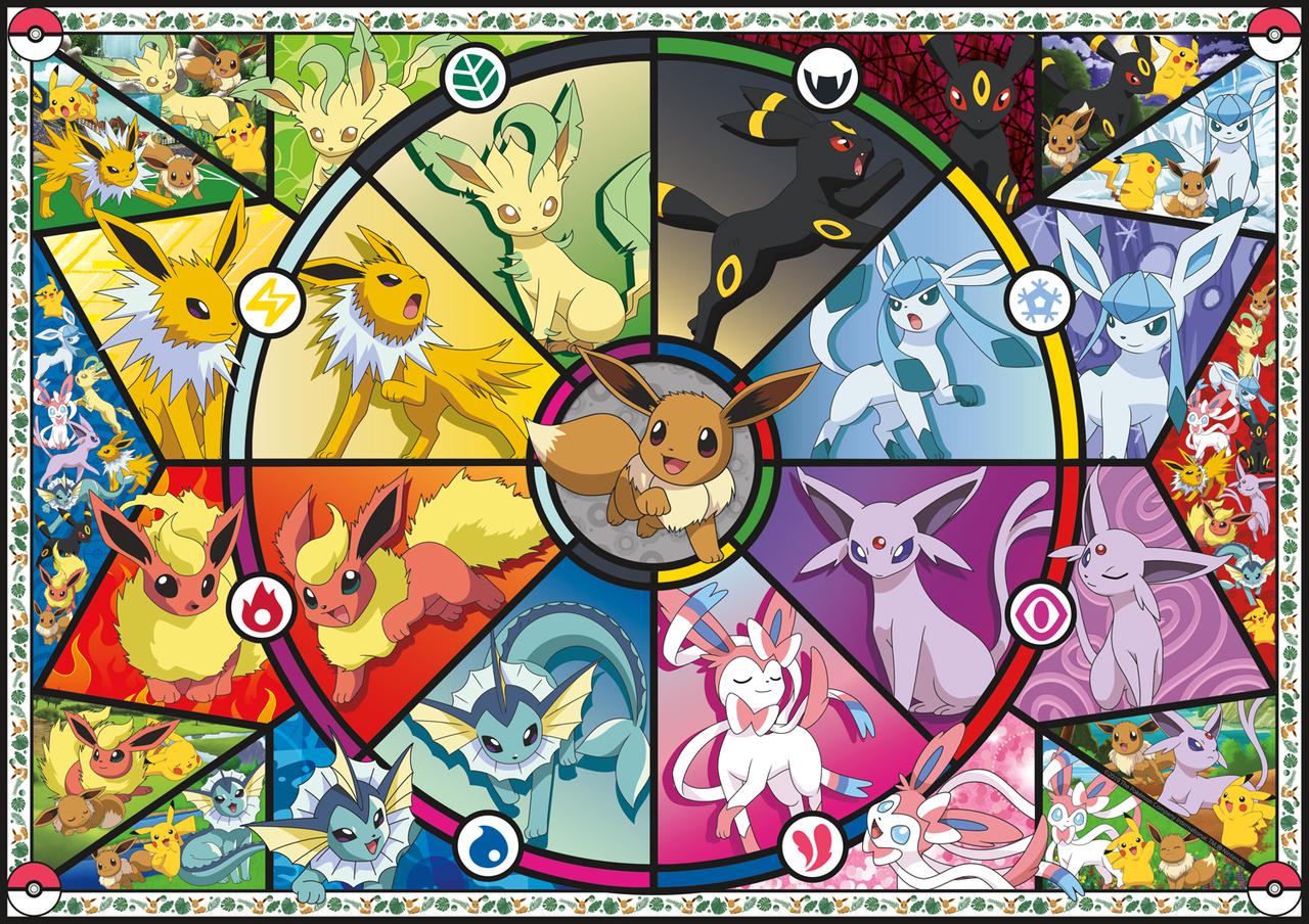 Pokémon Eevee Evolutions | Puzzle Buffalo 2000 Piezas
