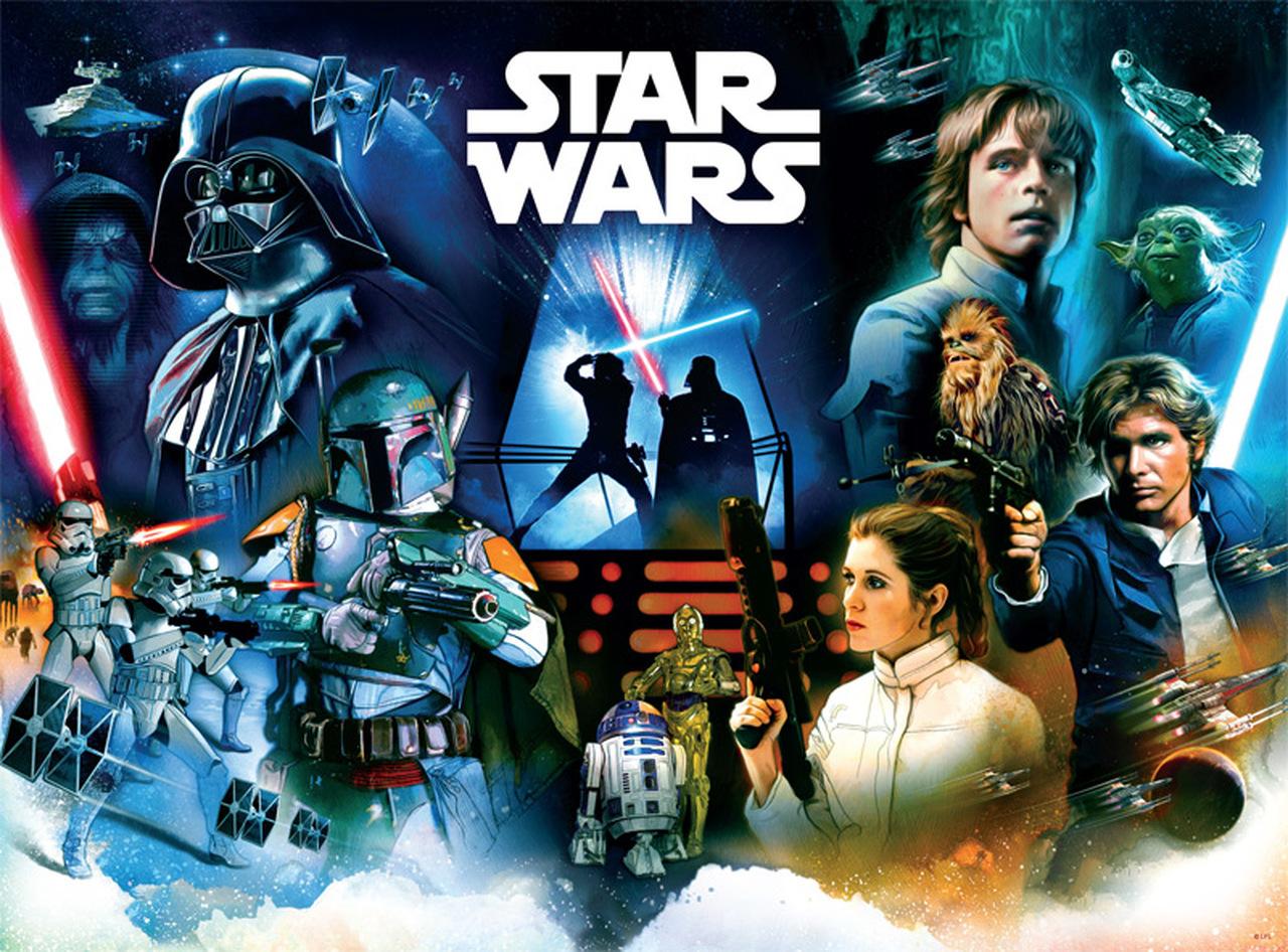 Star Wars Pinball Art   Puzzle Buffalo 1000 Piezas