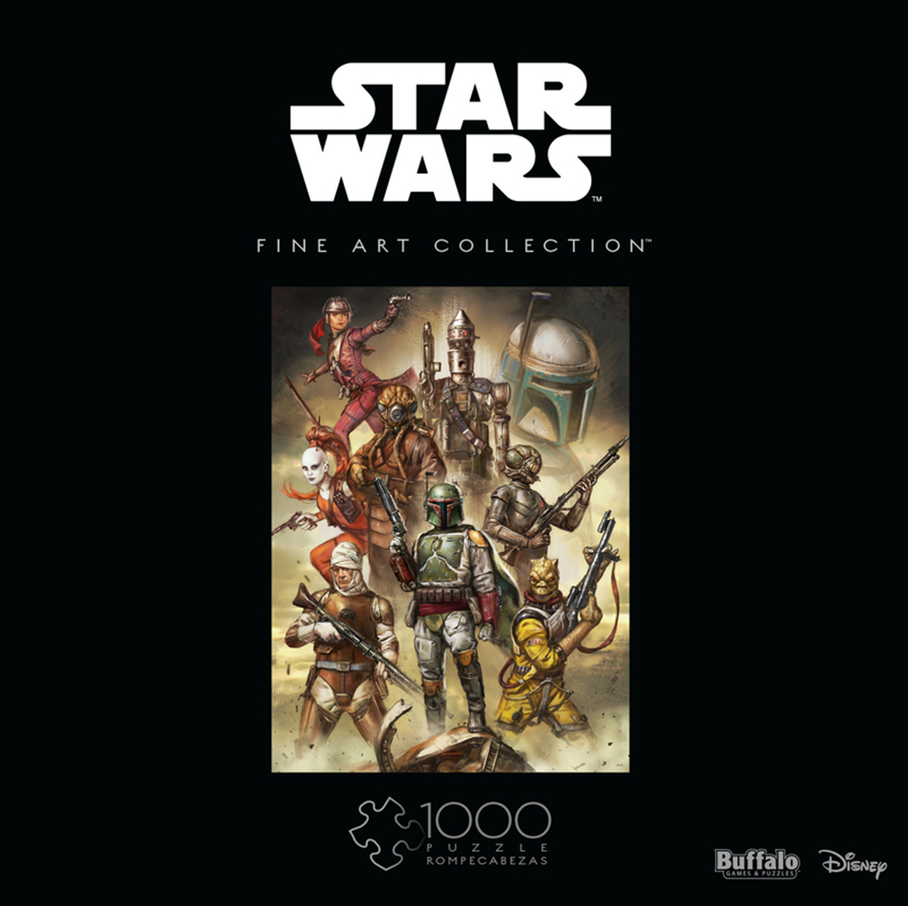 Star Wars Fine Art Collection Scum & Villainy   Puzzle Buffalo 1000 Piezas