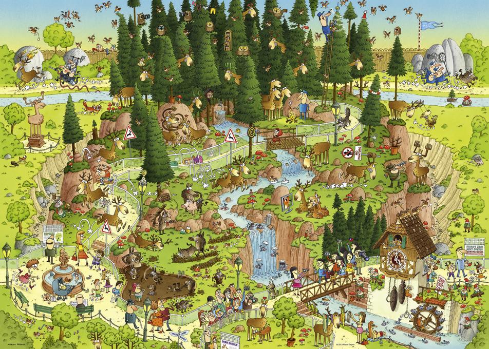 FUNKY ZOO Black Forest | Puzzle Heye 1000 Piezas