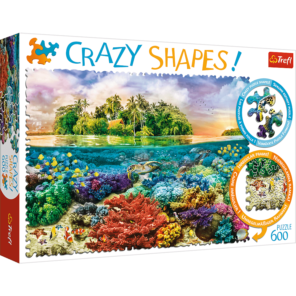 Crazy Shapes Tropical Island | Puzzle Trefl 600 Piezas