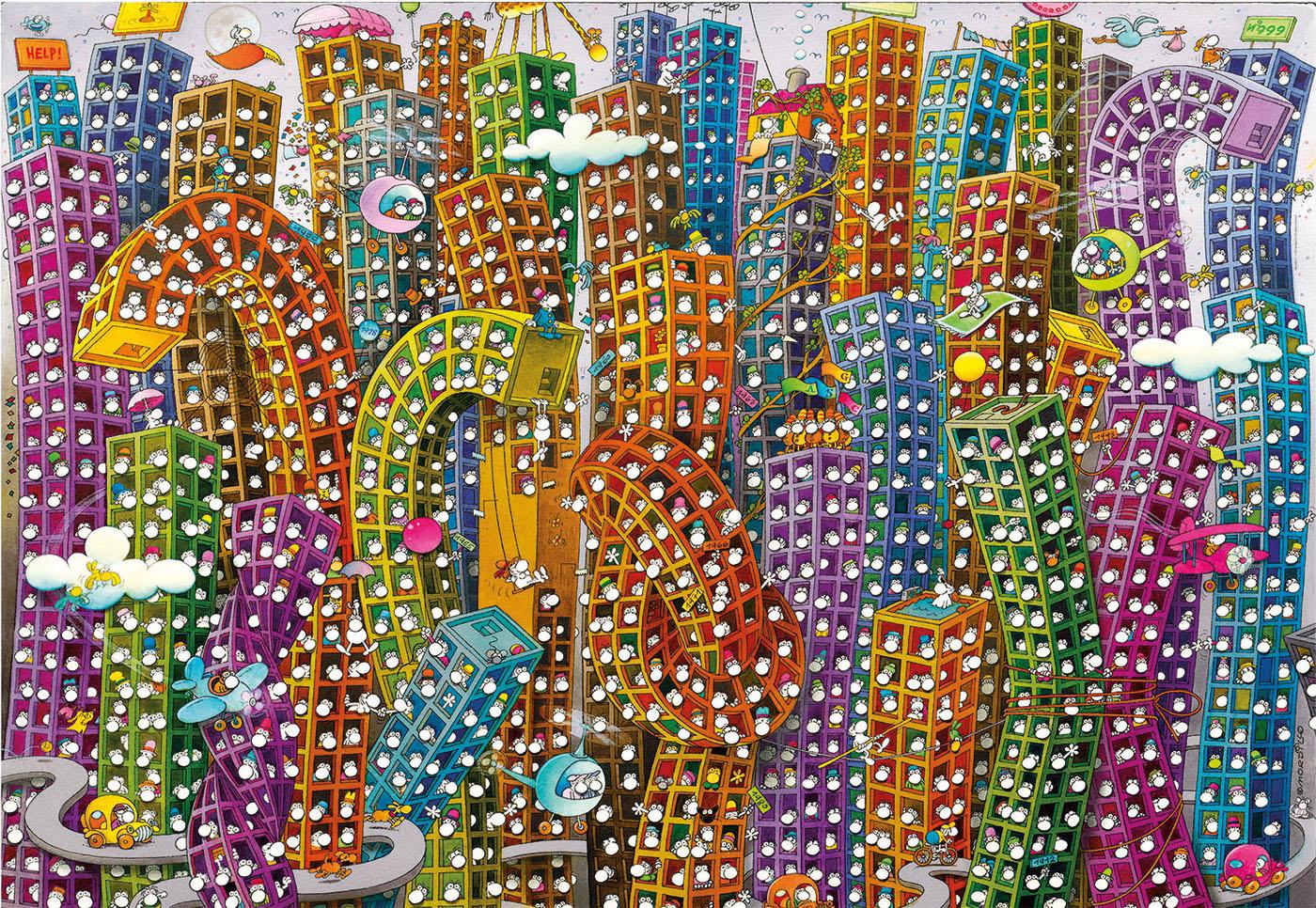 Mordillo La Selva de Concreto   Puzzle Clementoni 2000 Piezas