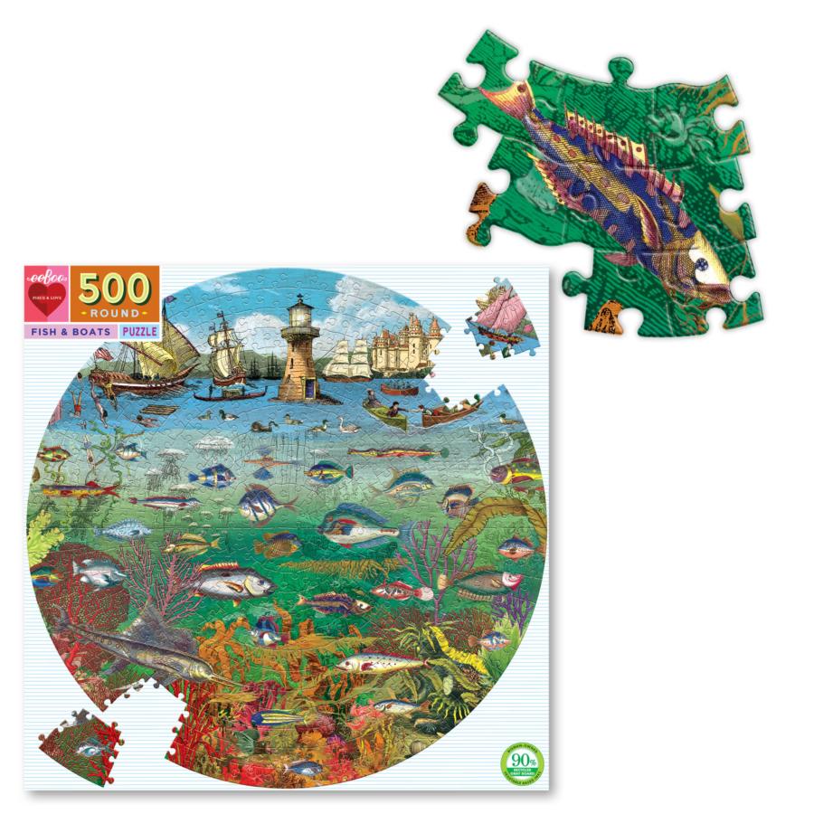 Peces y Barcos   Puzzle Eeboo 500 Piezas