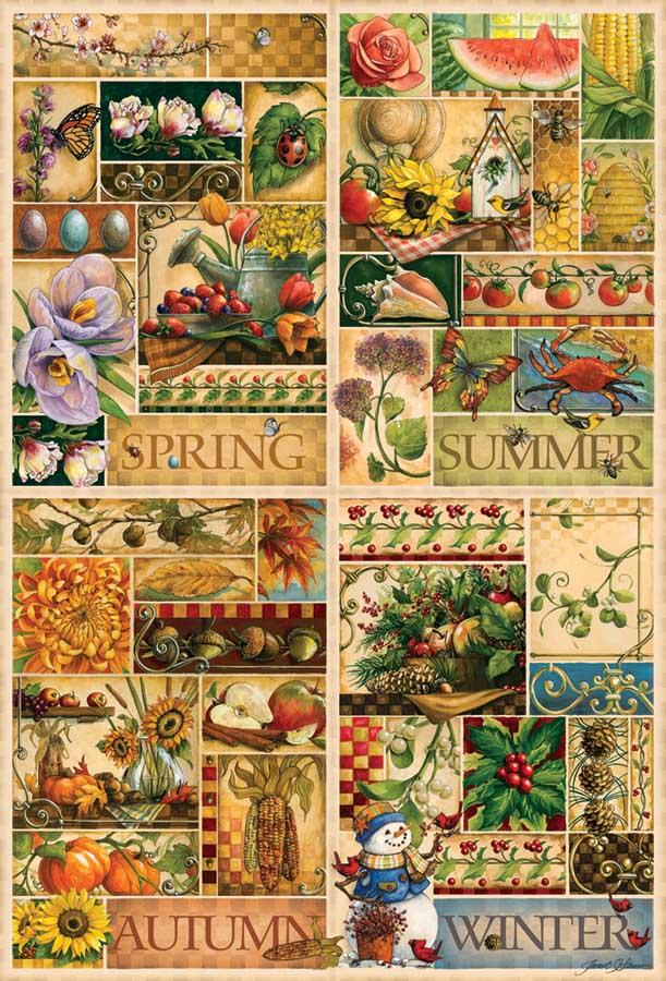The Four Seasons | Puzzle Cobble Hill 2000 Piezas